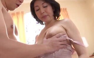 Japanese wife spreads her legs to be fucked by her younger lover