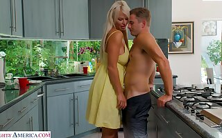 Barely legal stepson fucks carnage hot mommy London River
