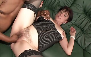 Bungling Hairy Milf kinky first shooting