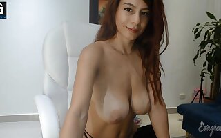 Chunky boobs redhead mollycoddle webcam show