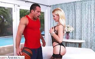 Killing hot babe Bibi Noel is fucked hard by hot blooded guy Johnny Hall