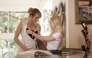 Amazing sex d�nouement lesbo babes Brett Rossi together with Alex Grey