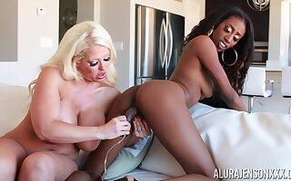 Feeling extremely torrid libellous busty MILF Alura Jenson is timepiece lesbian fun