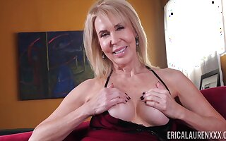 Hottest GILF Erica Lauren is masturbating juicy pussy in front of a difficulty camera