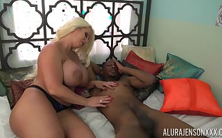 Tall voluptuous cock slayer Alura Jenson loves interracial mad about