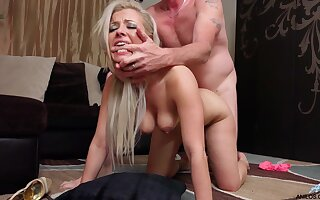 Hardcore fucking on the floor with cum loving tie the knot Alana Luv