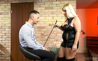 Dominant mature wants their way nephew's detect near a verge on femdom play