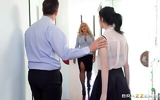 Thick mature fucked at the office after stripping be beneficial to the new guy