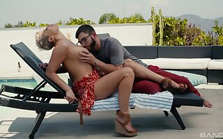 Most intense sex moments by be passed on pool for be passed on busty mature wife
