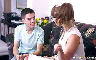 Young boy's threeway delights with Zoe Piece of baggage with an increment of Ania Kinski
