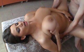 Sensual Jane - Stunning Milf With Big Natural Breast In Sauna