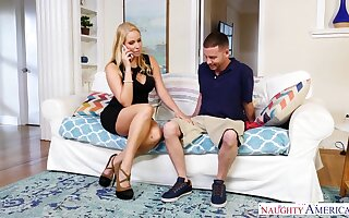 Whore wife Vanessa Cage seduces employee while her husband is on a business trip