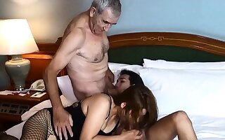 Cuckold off out of one's mind Asian ladyboy for Thai MILF become man and her husband