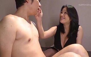 Unstinting boobs Asian fame Komukai Minako knows how to pleasure a dick
