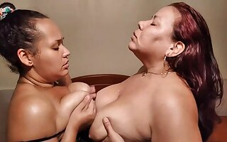 Got Milk - Chubby Latina Moms in Milking Lesbian Charm