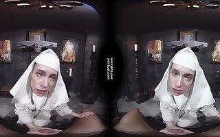 Damned Nun - Virtual reality porn glaze