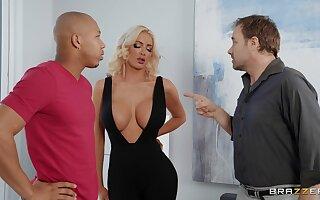 Interracial fucking at home less fake boobs blonde MILF Nicolette Shea