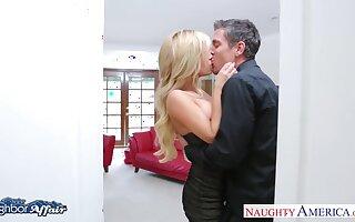 Nextdoor lovers enjoy sneaky intercourse in the living room
