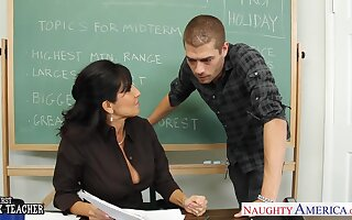 Sexiest 50 yo teacher Tara Holiday has an dare approximately one of their way student