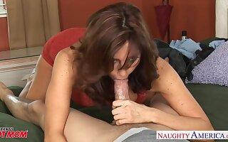 Playful MILF with sexy boobies Tara Holiday wanna some sensual doggy