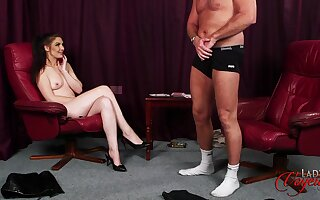 Toff strokes his penis while naughty Roxee Couture takes off her clothes