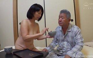 Horny Kanasugi Rio moans while effectuation with her tight vagina
