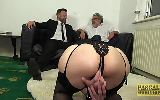 Gagged wife gets the big dick all round scenes of BDSM cuckold