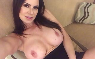 Busty wordsmith MILF with Big Fake tits all over solo vilify