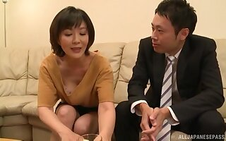 Mature Asian Enshiro Hitomi certainly knows how to mouth a prick