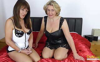 Busty Matures unfamiliar Britain Together
