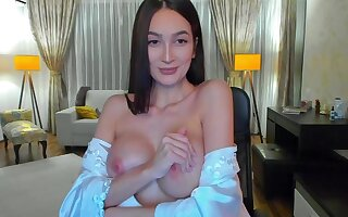 Latina lustful harlot terrifying webcam video