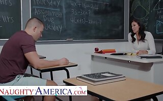 Reagan Foxx Teaches Her Student A Special Lesson Thither Classroom