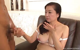 Licentious delight for a fine mature with insane jugs