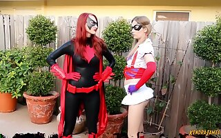 Kendra James And Harley Quinn In Vs Batwoman Vitality Game