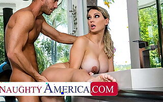 Naughty America - Fat tit blonde, Kenzie Taylor gets fucked