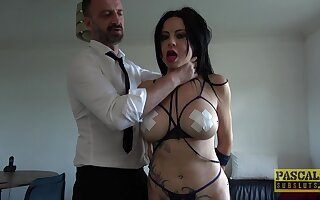 Secured up slave girl Damaris gets rough fucked all over tight asshole