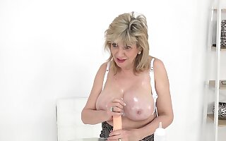 Your take charge MILF Lady Sonia helps you wank