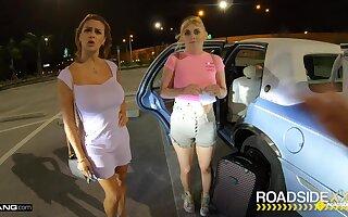 Roadside - Mechanic Fucks MILF And Her Stepdaughter - Sean lawless