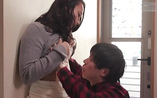 Japanese bungler mommy thrilling mating video