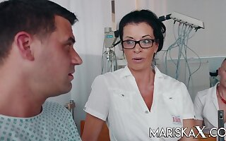 Busty Matured Doctor Dacada fucks her patient and coworkers - Rick angel