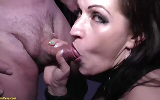 Crazy german MILF tries her first extreme rough double anal at our weekly swinger party orgy