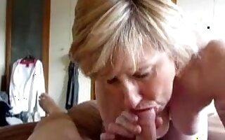 Mature wife sucks well