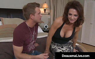 Big Titty Milf Deauxma Fucks Young Stud & Milks His Dick!