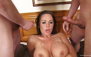 Busty wife gets a massive gangbang as her birthday present