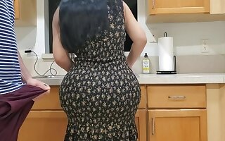 Stepmom fuck in the kitchen