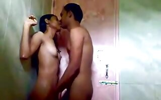 Indian college girl fucking in public shower