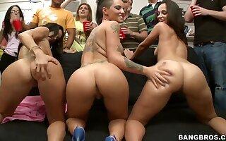 Horny Ava Addams,Christy Mack and Jada Stevens in action