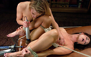 Crazy milf, fisting xxx video with fabulous pornstars India Summer and Aiden Aspen from Fuckingmachines