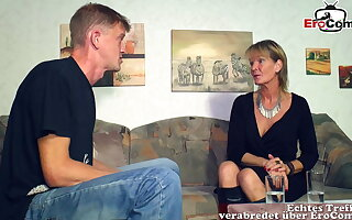 German mature old mother piece of baggage seduced younger son guy
