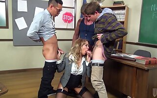 Rough mouth shagging for beautiful transcriber Jessica Drake in stockings